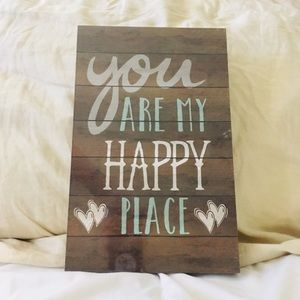 HP 💕 You are my happy place room decor wall art